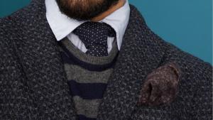 Lækre strik jakker og slips hos Boston Roskilde